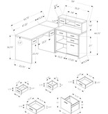 Monarch Computer desk, Black and grey left/right facing corner