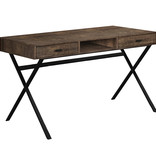 "Monarch Computer desk 48"", Brown reclaimed wood and black metal"