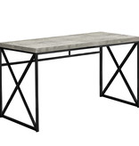 "Monarch Computer desk 48"", Grey reclaimed wood and black metal"