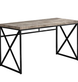 "Monarch Computer desk 48"", Taupe reclaimed wood and black metal"