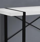 """Monarch Computer Desk 48""""L, White and Black Metal"""