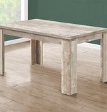 "Monarch Dining Table (36"" x 60""), taupe Reclaimed Wood-Look"