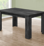 """Monarch Dining Table (36"""" x 60""""), Black Reclaimed Wood-Look"""