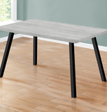 """Monarch Dining Table (36"""" x 60""""), Grey and Black Metal"""