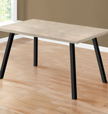 "Monarch Dining Table (36"" x 60""), Dark taupe and Black Metal"