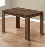 """Monarch Dining Table (32"""" x 48""""), Brown Reclaimed Wood-Look"""