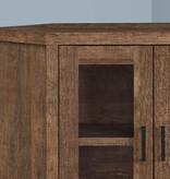 "Monarch Corner TV Stand (42""), Brown Reclaimed Wood-Look"