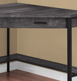 "Monarch Corner Desk (42""), Black Reclaimed Wood"