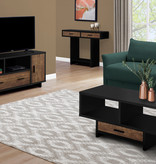Monarch Coffee Table, Black and Brown Reclaimed Wood-look