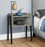 Monarch Accent Table, Grey and Black Metal