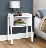 Monarch Accent Table, White and White Metal