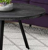 Monarch Coffee Table, Black Reclaimed Wood and Black Metal