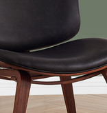 Monarch Accent Chair, Dark Brown Leather Look Fabric