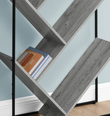 Monarch Bookcase, Grey, Black Metal
