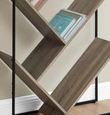 Monarch Bookcase, Dark Taupe, Black Metal