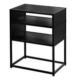 Monarch Accent Table, Black, Black Metal