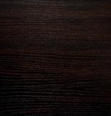 Monarch Accent Table, Espresso, Black Metal Hall Console