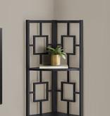 "Monarch Bookcase (62""H), Black, Black Metal Corner Etagere"