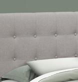 "Monarch Headboard Queen (60"") Size, Grey Linen"