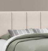 """Monarch Bed, Queen (60"""") Size, Beige Linen With Black Wood Legs"""