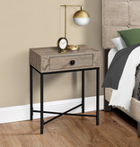 Monarch Accent Table, Dark Taupe and Black Metal