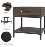 Bestar  Heka End Table, Buffalo Brown