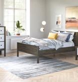 """Bestar  Capella Full (54"""") Platform Bed, Walnut Grey"""
