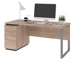 """Bestar Aquarius Desk (66""""), Rustic Brown & Graphite"""