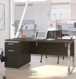 "Bestar Aquarius Desk (66""), Deep Grey & White"