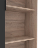 Bestar Aquarius Storage Unit, Rustic Brown & Graphite