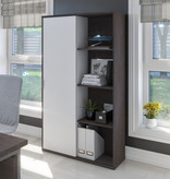 Bestar Aquarius Storage Unit, Bark Grey & White