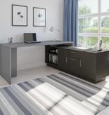 Bestar Equinox L-Shaped Office Desk, Slate & Deep Grey