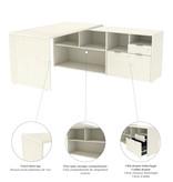 Bestar  i3 Plus L-Shaped Desk, White Chocolate