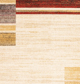 South Shore Holland Red and Yellow Contemporary Squares Area Rug 5ft x 8ft
