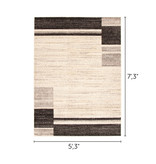 South Shore Holland Brown and Gray Contemporary Squares Area Rug 5ft x 8ft