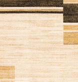 South Shore Holland Brown and Yellow Contemporary Squares Area Rug 5ft x 8ft