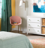 South Shore Balka 3-Drawer Dresser with Baskets, Pure White