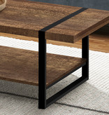 Monarch Coffee Table, Brown Reclaimed Wood and Black Metal - OPEN BOX