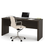 "Bestar Embassy 66"" Narrow Desk Shell, Dark Chocolate"
