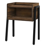 Monarch Accent Table, Brown Reclaimed-Look, Black Metal - OPEN BOX