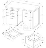 Monarch Computer Desk, Black and Silver