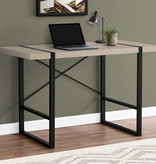Monarch Computer Desk, Modern Taupe and Black Metal