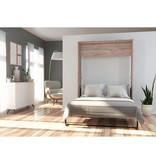 Bestar Cielo Full Murphy Bed 59L, Rustic Brown & White