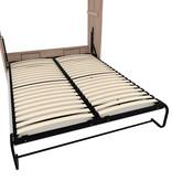 Bestar Cielo Queen Murphy Bed 65L, Rustic Brown & White