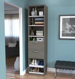"Bestar Cielo 19.5"" Closet Organizer, Bark Grey & White"