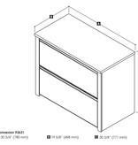 """Bestar Connexion 30"""" Lateral File Cabinet, Antigua & Black"""