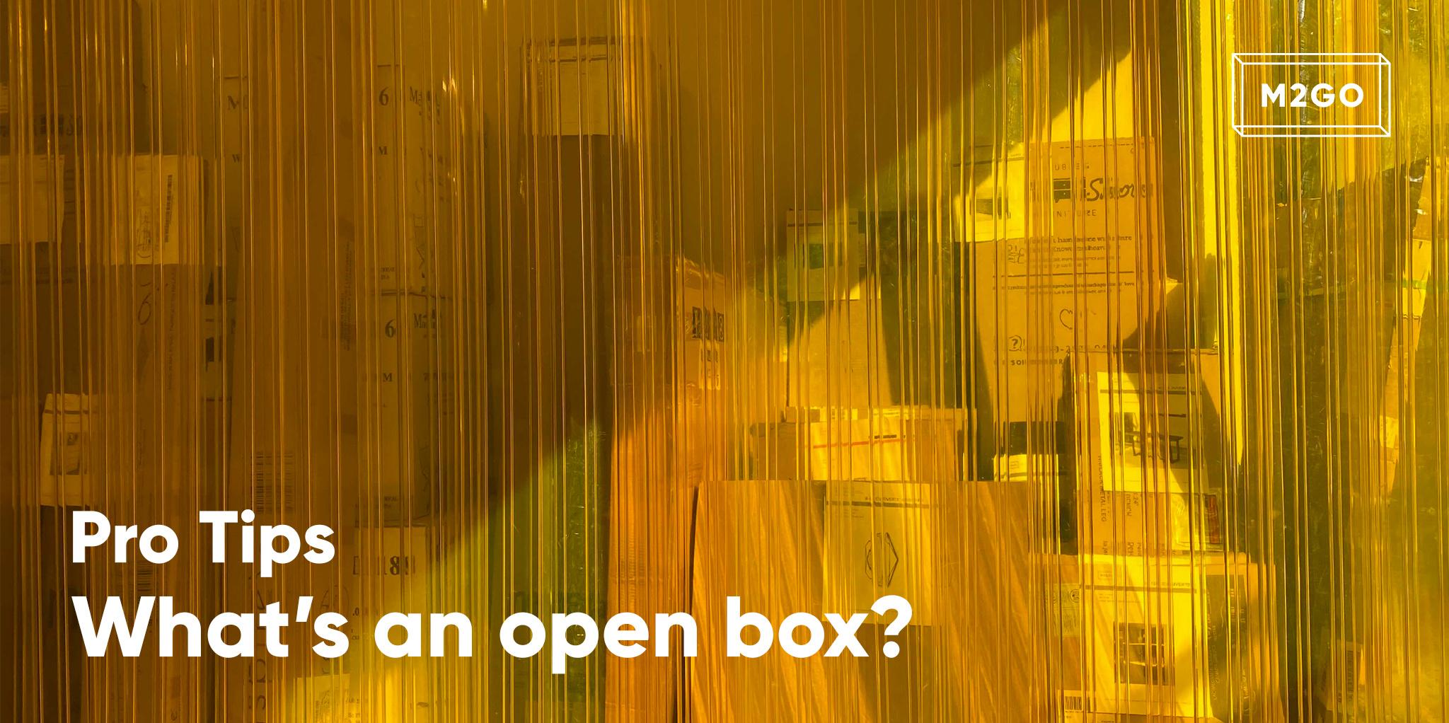 What's an open box?