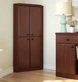 South Shore Morgan 4-Door Corner Armoire, Royal Cherry