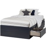 "South Shore Aviron Twin Mates Bed (39"") with 3 Drawers, Blueberry"