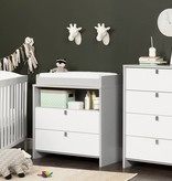South Shore Cookie Changing Table/Dresser, Soft Gray and Pure White